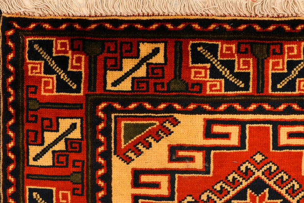 Dark Orange Kargai 2' 10 x 9' 7 - No. 35678 - Alrug Rug Store