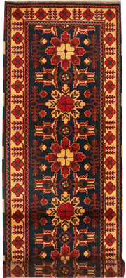 Midnight Blue Kargai 2' 9 x 9' 9 - No. 35679 - Alrug Rug Store
