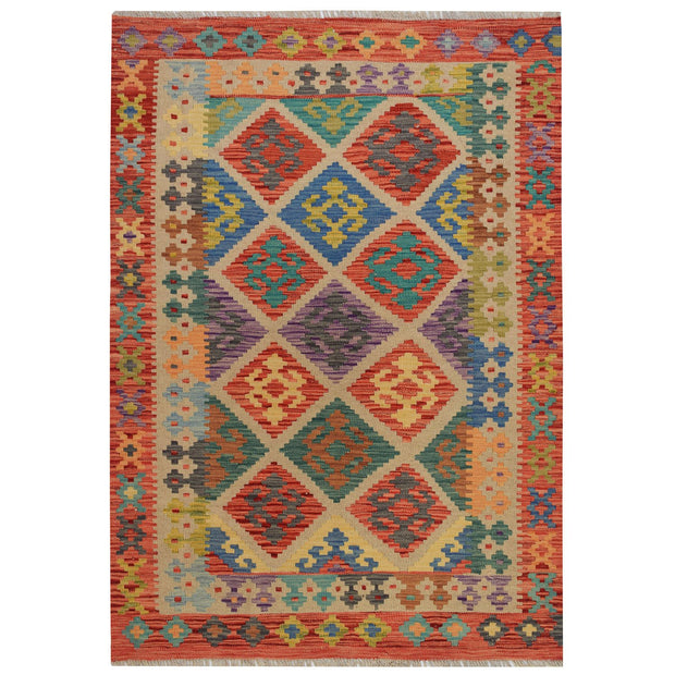 Vegetable Kilim 4' 1 x 5' 8 (ft) - No. AL19157 - ALRUG Rug Store