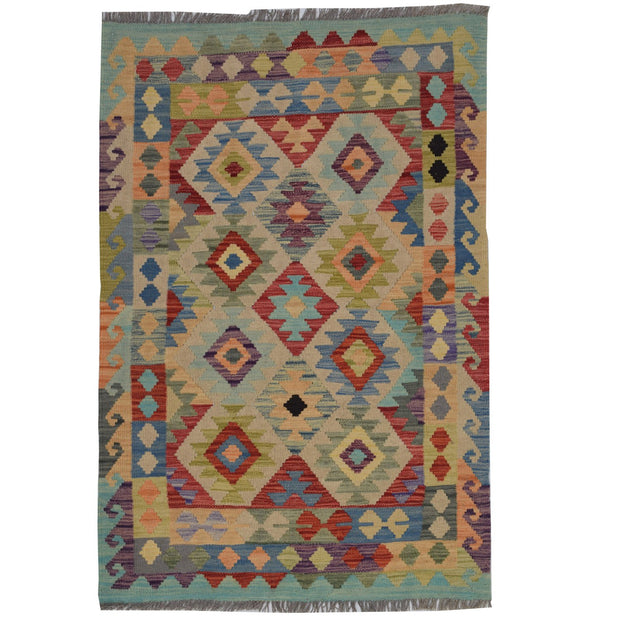 Vegetable Kilim 3' 2 x  4' 9 (ft) - No. AL56512 - ALRUG Rug Store