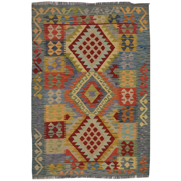 Vegetable Kilim 3' 3 x  4' 8 (ft) - No. AL15148 - ALRUG Rug Store