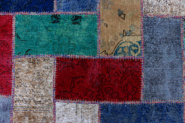 Multi Colored Patchwork 6' 8 x 9' 5 - No. 37471 - ALRUG Rug Store