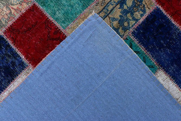 Multi Colored Patchwork 6' 8 x 9' 5 - No. 37473 - Alrug Rug Store