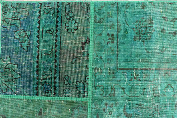 Medium Sea Green Patchwork 8' 6 x 11' 5 - No. 37483 - ALRUG Rug Store