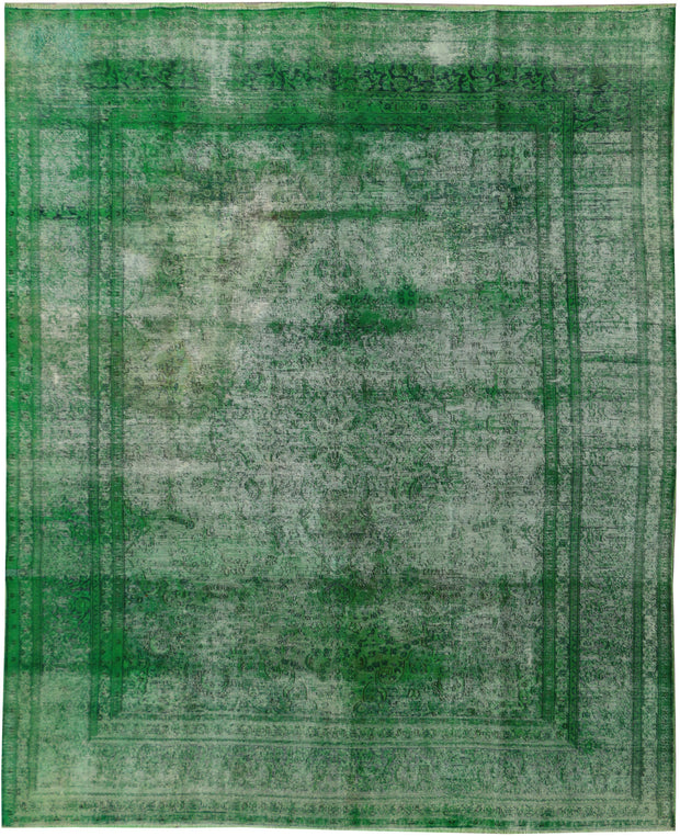 Green Overdyed 9' 5 x 12' 3 - No. 37492 - ALRUG Rug Store