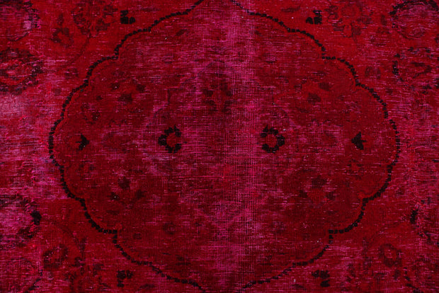 Maroon Overdyed 7' 9 x 9' 11 - No. 37558 - ALRUG Rug Store