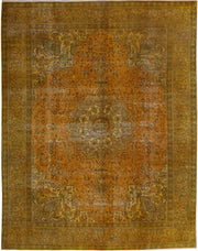Dark Goldenrod Overdyed 9' 10 x 12' 10 - No. 37568 - ALRUG Rug Store