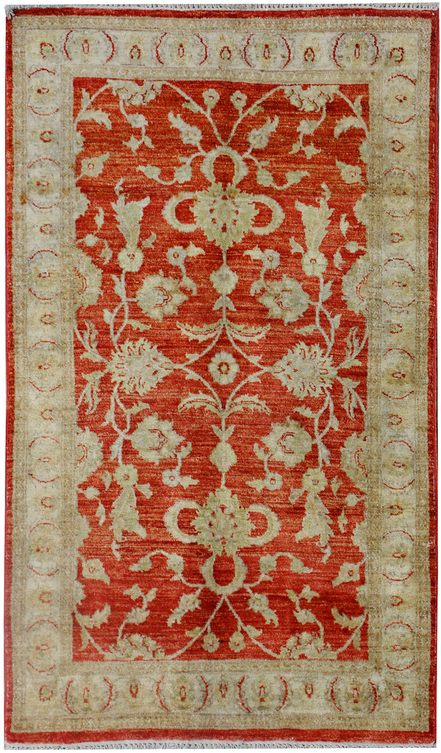 Brown Oushak 3' x 4' 11 - No. 37673 - Alrug Rug Store