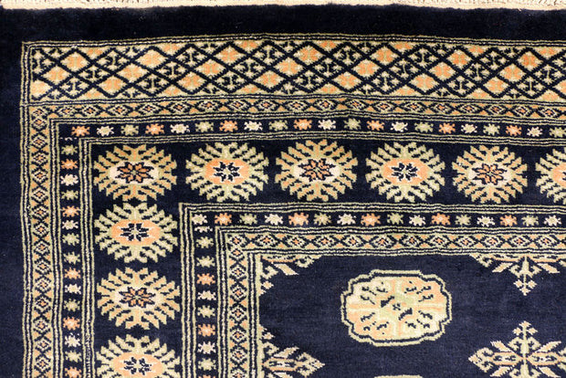 Midnight Blue Bokhara 7' 1 x 9' 4 - No. 38395 - Alrug Rug Store