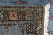 Steel Blue Butterfly 4' 1 x 5' 11 - No. 41177 - ALRUG Rug Store