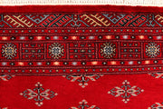 Dark Red Butterfly 4' 1 x 5' 11 - No. 41195 - ALRUG Rug Store