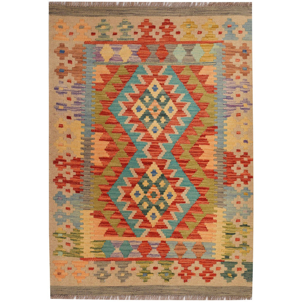 Vegetable Kilim 2' 7 x 3' 7 (ft) - No. AL33970 - ALRUG Rug Store