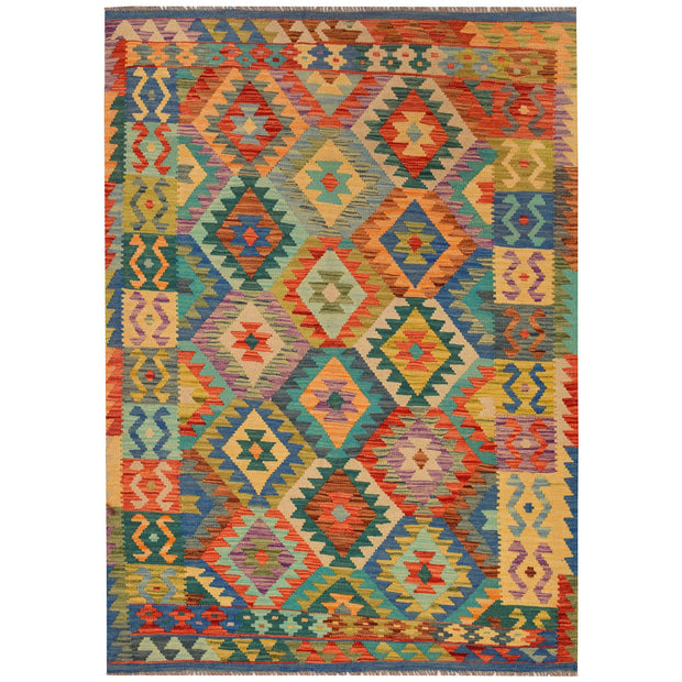 Vegetable Kilim 4' 1 x 5' 7 (ft) - No. AL63801 - ALRUG Rug Store