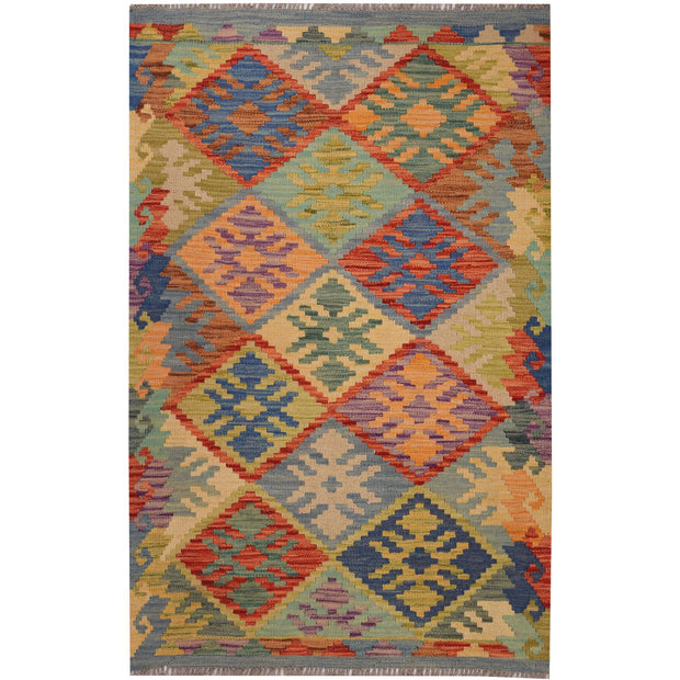 Vegetable Kilim 2' 6 x 4' 1 (ft) - No. AL82529 - ALRUG Rug Store