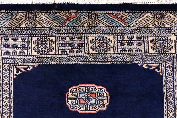 Midnight Blue Bokhara 3' 1 x 5' 5 - No. 43980 - ALRUG Rug Store