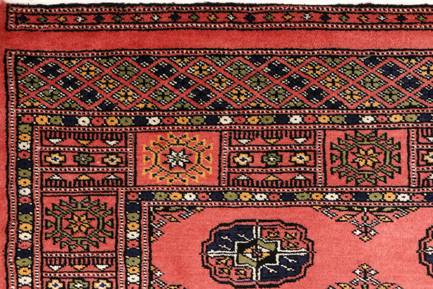Indian Red Bokhara 3' 1 x 5' 1 - No. 44023 - ALRUG Rug Store