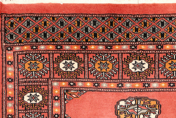 Indian Red Bokhara 3' x 4' 7 - No. 44038 - ALRUG Rug Store