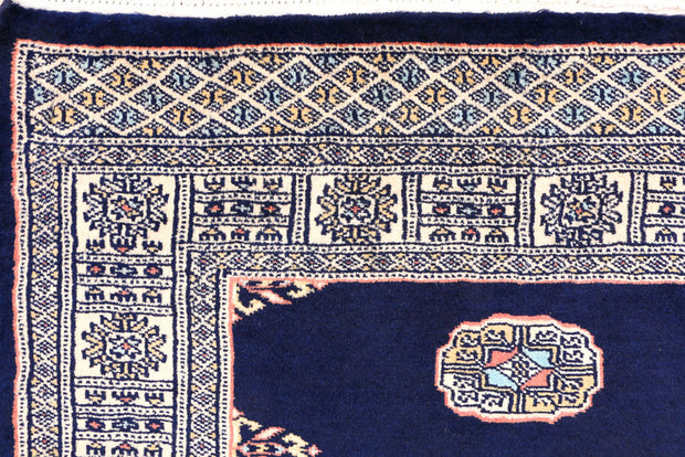 Midnight Blue Bokhara 3' 1 x 5' 3 - No. 44080 - ALRUG Rug Store