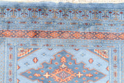 Light Steel Blue Jaldar 3' 3 x 4' 6 - No. 44186 - ALRUG Rug Store