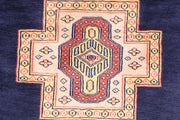 Midnight Blue Caucasian 3' 2 x 5' 2 - No. 44209 - ALRUG Rug Store