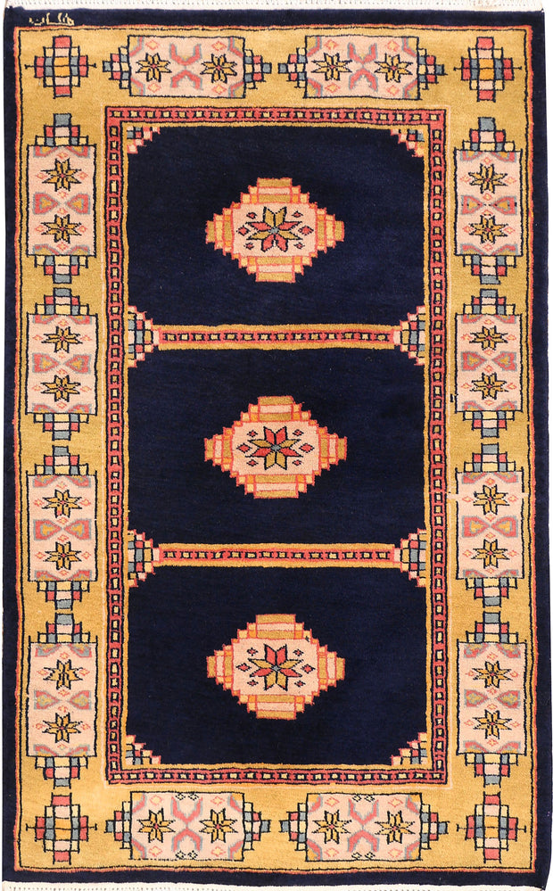 Midnight Blue Jaldar 2' 6 x 3' 11 - No. 44455 - ALRUG Rug Store