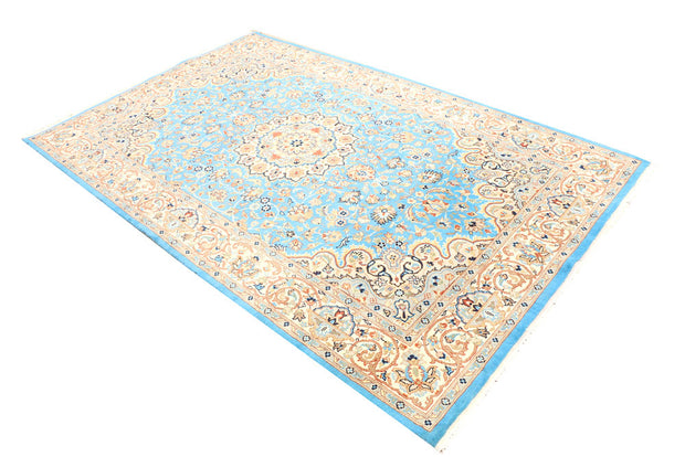 Light Sky Blue Kashan 5' x 8' 1 - No. 44791 - ALRUG Rug Store