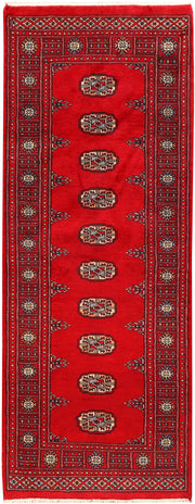 Dark Red Bokhara 2' 6 x 6' 5 - No. 45133 - ALRUG Rug Store