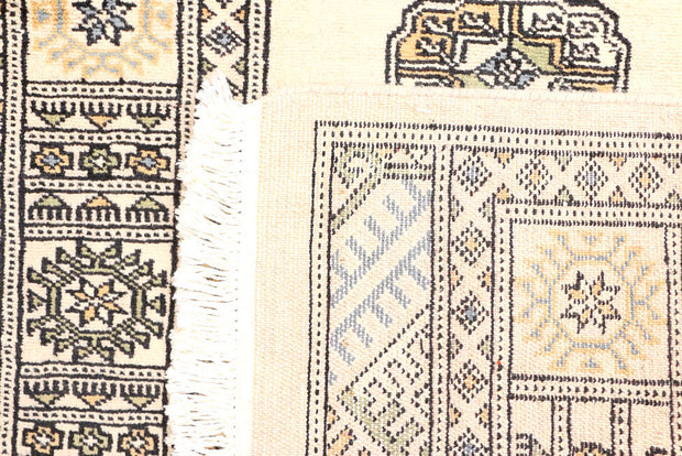 Antique White Bokhara 2' 6 x 9' - No. 45305 - ALRUG Rug Store