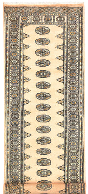 Antique White Bokhara 2' 8 x 9' 2 - No. 45309 - ALRUG Rug Store