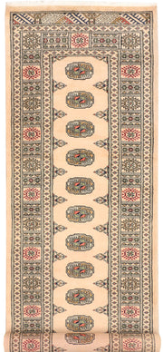 Antique White Bokhara 2' 8 x 9' 3 - No. 45352 - ALRUG Rug Store