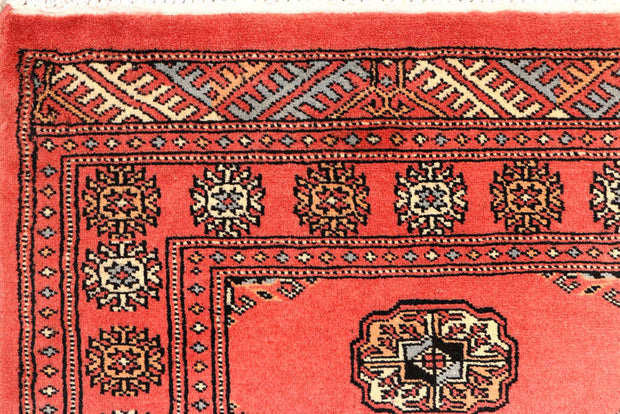 Indian Red Bokhara 2' 6 x 10' - No. 45553 - ALRUG Rug Store