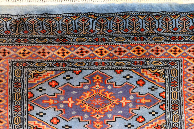 Light Steel Blue Jaldar 2' 7 x 9' 9 - No. 45567 - ALRUG Rug Store