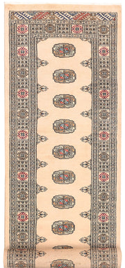 Antique White Bokhara 2' 7 x 10' 8 - No. 45606 - ALRUG Rug Store