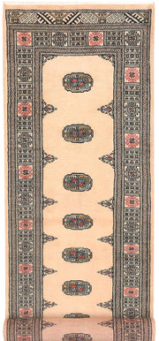 Antique White Bokhara 2' 7 x 10' 9 - No. 45610 - ALRUG Rug Store