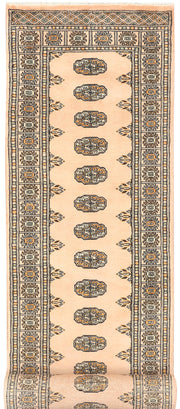 Antique White Bokhara 2' 7 x 11' 7 - No. 45615 - ALRUG Rug Store