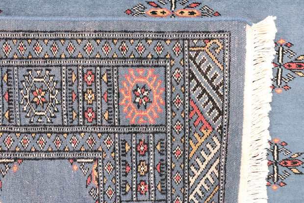 Steel Blue Butterfly 4' 1 x 6' 2 - No. 45749 - ALRUG Rug Store