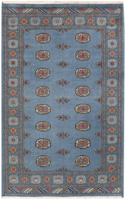 Light Slate Grey Bokhara 4' 1 x 6' 4 - No. 45795 - ALRUG Rug Store