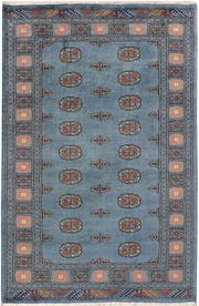 Light Slate Grey Bokhara 4' 2 x 6' 4 - No. 45817 - ALRUG Rug Store