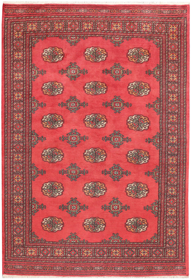 Indian Red Bokhara 5' 7 x 8' 2 - No. 45971 - ALRUG Rug Store