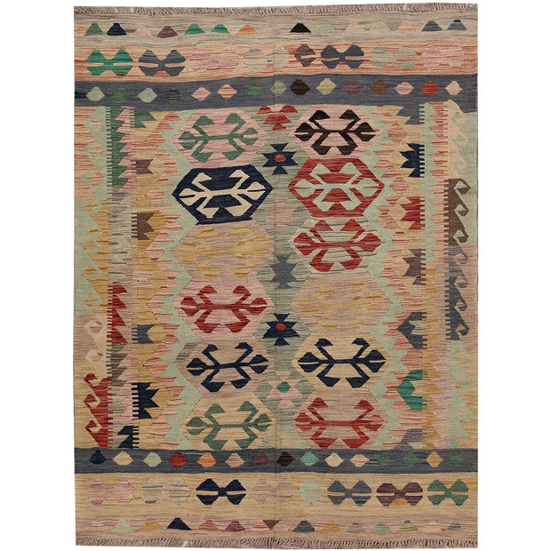 Vegetable Kilim 4' 8 x 6' 3 (ft) - No. AL50153 - ALRUG Rug Store
