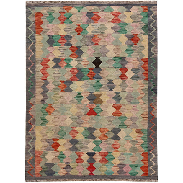 Vegetable Kilim 4' 8 x 6' 4 (ft) - No. AL27553 - ALRUG Rug Store
