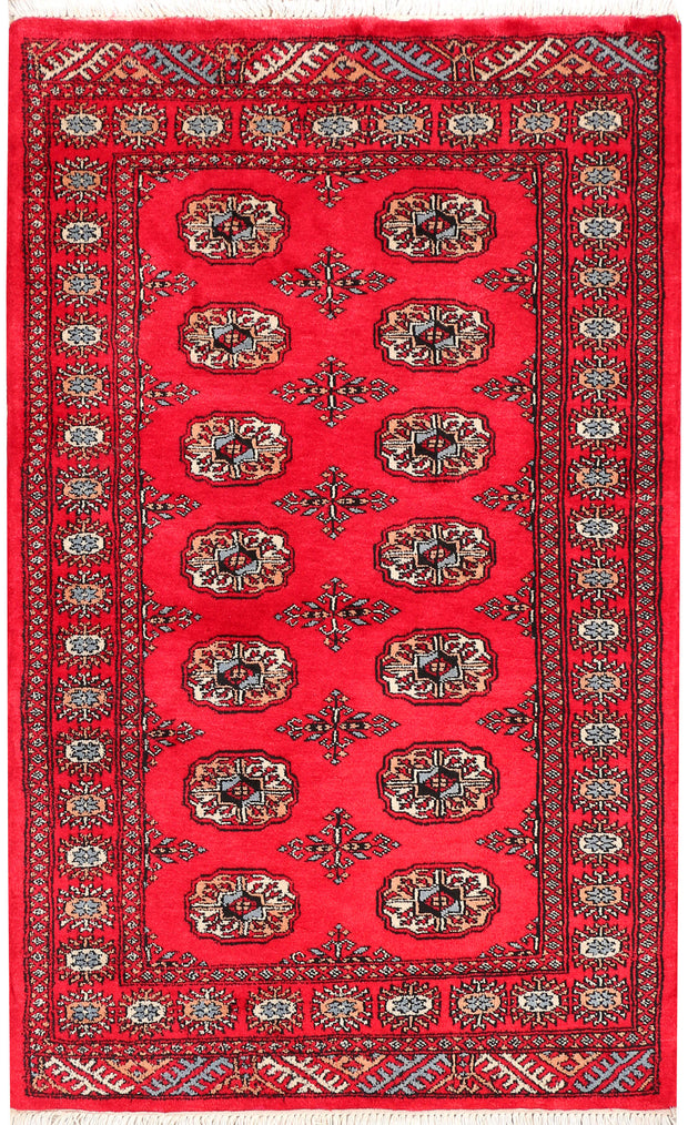 Crimson Bokhara 3' 1 x 5' 1 - No. 46294