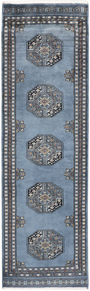 Light Slate Grey Fil Pa 2' x 6' 9 - No. 46512 - Alrug Rug Store