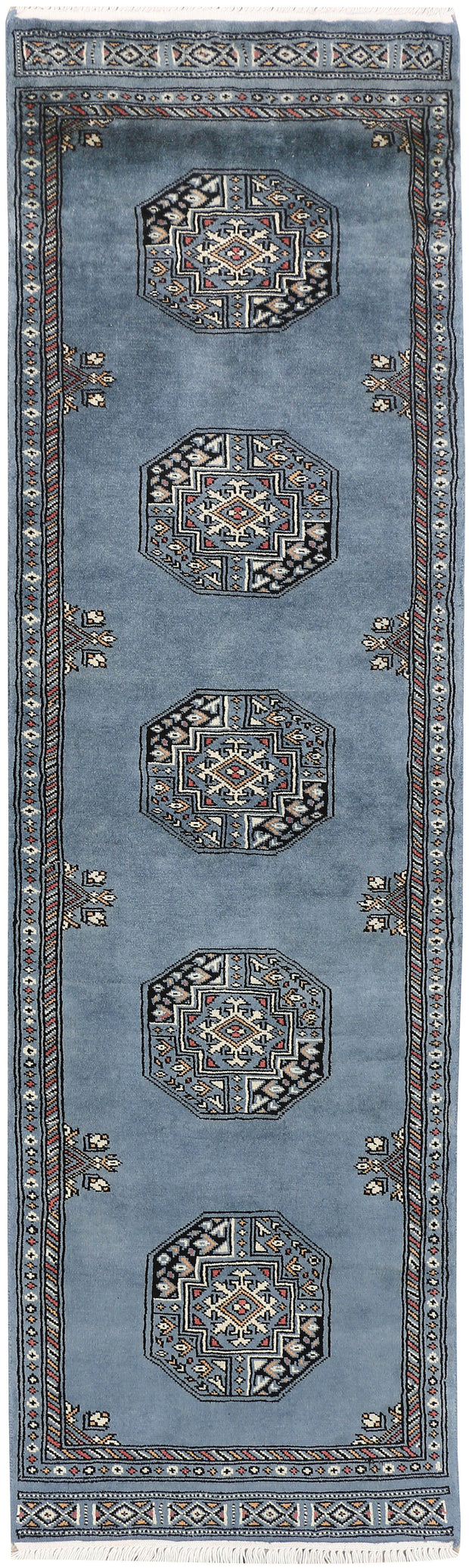 Light Slate Grey Fil Pa 2' x 6' 9 - No. 46520 - Alrug Rug Store