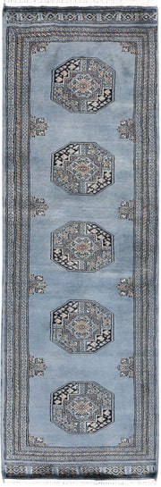 Light Slate Grey Fil Pa 2' x 6' 1 - No. 46523 - Alrug Rug Store