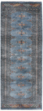 Light Slate Grey Butterfly 2' 1 x 5' 5 - No. 46528 - ALRUG Rug Store