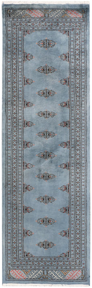 Light Slate Grey Butterfly 2' x 6' 5 - No. 46543 - ALRUG Rug Store
