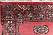 Indian Red Bokhara 2' 6 x 12' 6 - No. 46931 - ALRUG Rug Store