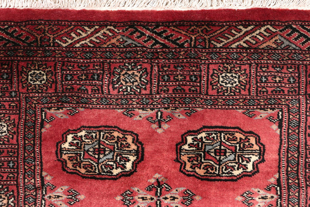 Indian Red Bokhara 2' 6 x 14' 1 - No. 47016 - ALRUG Rug Store