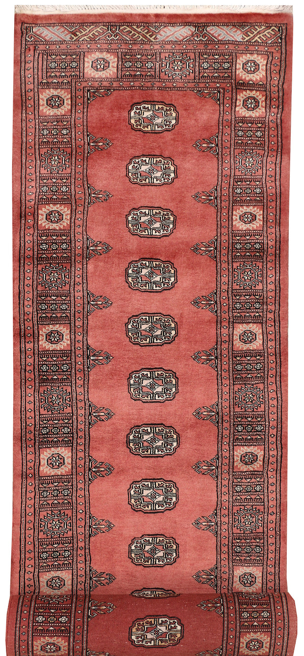 Indian Red Bokhara 2' 9 x 14' 1 - No. 47034 - ALRUG Rug Store